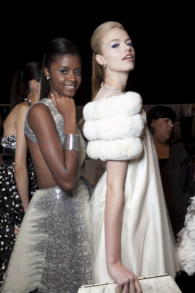 Dennis Basso at New York Spring 2011 (Backstage)