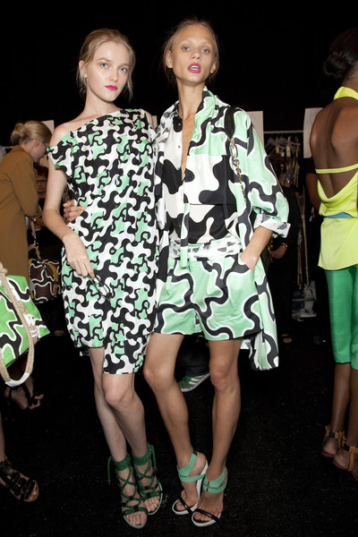 Diane von Furstenberg at New York Spring 2011 (Backstage)