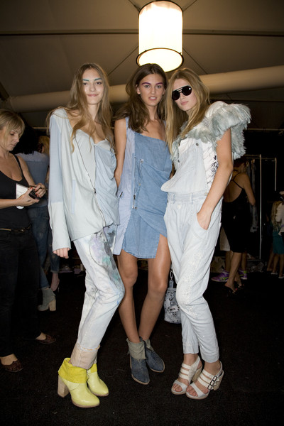 Diesel Black Gold at New York Spring 2009 (Backstage)