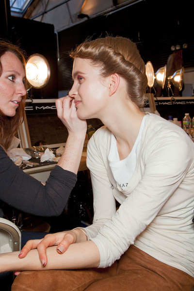 Donna Karan at New York Fall 2012 (Backstage)