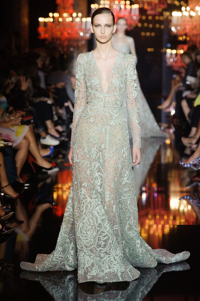 Elie Saab at Couture Fall 2014 [fashion model,fashion,haute couture,clothing,dress,fashion show,runway,gown,shoulder,event,dress,fashion accessory,couture fall,fashion,haute couture,clothing,wedding dress,lace,elie saab,fashion show,haute couture,fashion,dress,fashion show,wedding dress,lace,clothing,fashion accessory,autumn,winter]