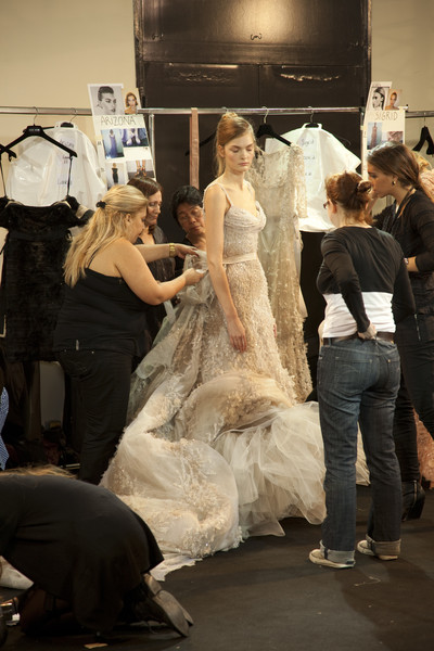 Elie Saab at Couture Spring 2011 (Backstage)