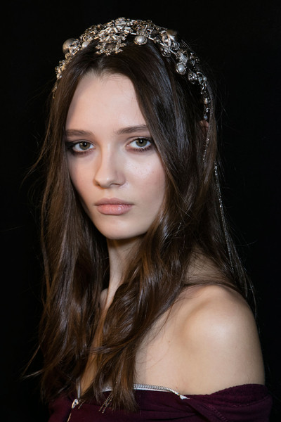 Elie Saab at Couture Spring 2016 (Backstage) [hair,face,headpiece,hairstyle,eyebrow,beauty,hair accessory,lip,head,long hair,fashion accessory,headpiece,hairstyle,hair,beauty,head hair,hair,fashion,comb,couture spring 2016,headpiece,hairstyle,fashion accessory,hair,fashion,comb,beauty,model,head hair]