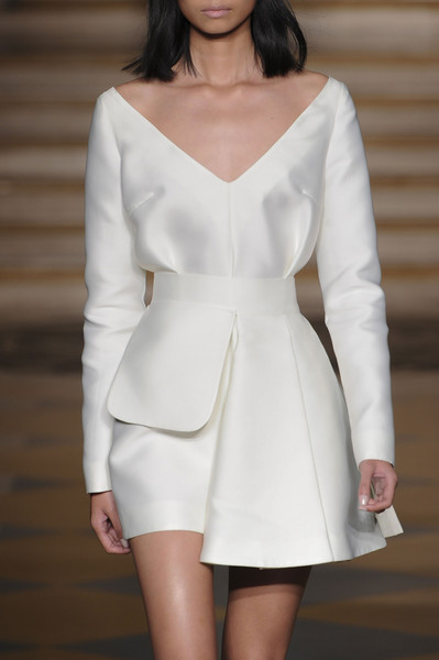 Emilia Wickstead at London Spring 2015 (Details) [clothing,white,fashion model,shoulder,dress,fashion,neck,haute couture,cocktail dress,sleeve,dress,cocktail dress,party dress,gown,evening gown,fashion,wedding dress,clothing,neckline,london fashion week,fashion,dress,cocktail dress,evening gown,wedding dress,gown,casual wear,clothing,neckline,party dress]
