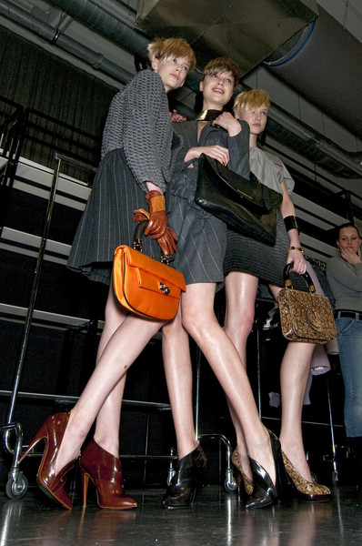 Emporio Armani at Milan Fall 2010 (Backstage)