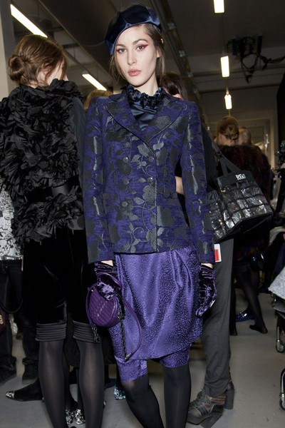 Emporio Armani at Milan Fall 2012 (Backstage)