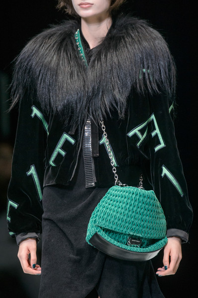 Emporio Armani at Milan Fall 2018 (Details) [green,clothing,fashion,outerwear,teal,turquoise,fur,cool,fashion model,sweater,fur,fashion,clothing,runway,fur clothing,model,haute couture,emporio armani,milan fashion week,fashion show,runway,fashion show,fur clothing,haute couture,fashion,model,clothing,fur]