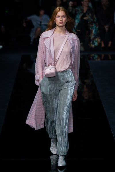 Emporio Armani at Milan Spring 2020 [fashion,fashion show,fashion model,runway,clothing,public event,haute couture,fashion design,event,human,donatella versace,fashion,runway,clothing,emporio armani,milan fashion week,fashion show,paris fashion week,event,event,donatella versace,milan fashion week 2018,paris fashion week,fashion show,fashion,armani,milan fashion week 2020,runway]