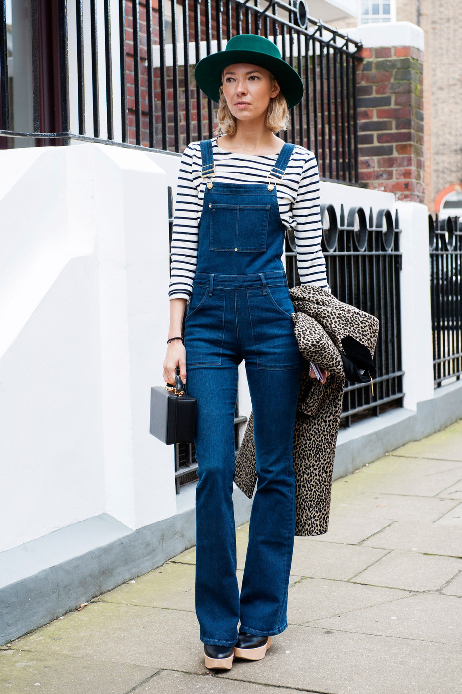 Denim Overalls Best Street Style At London Fashion Week Fall 2015 Livingly