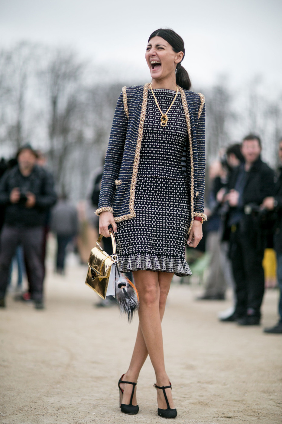 Tweed Layers Best Street Style At Paris Fashion Week Fall 2015 Livingly