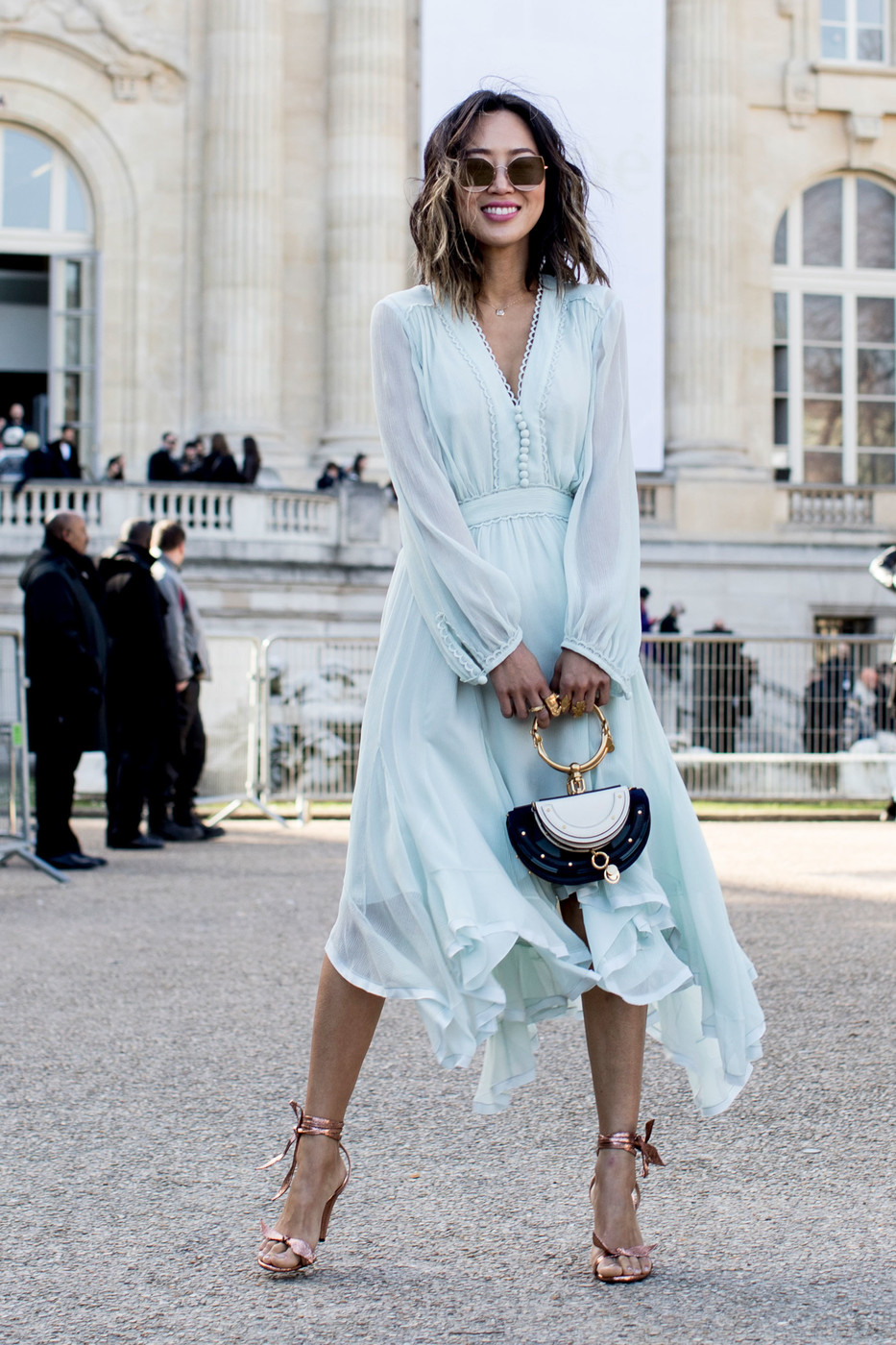 Mint Blue 60 Outfit Ideas From Paris Fashion Week S