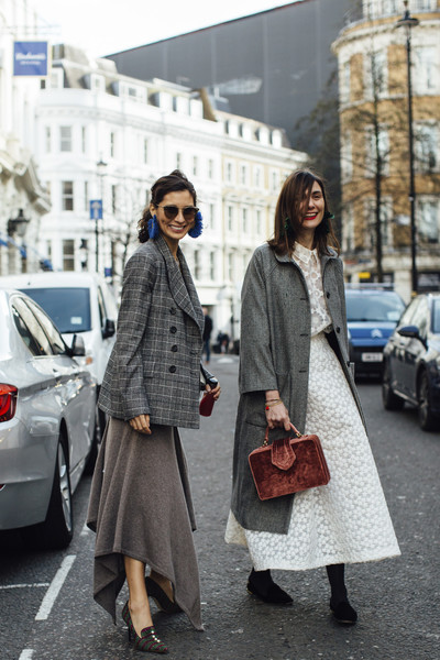 Checkered Coats and Skirts