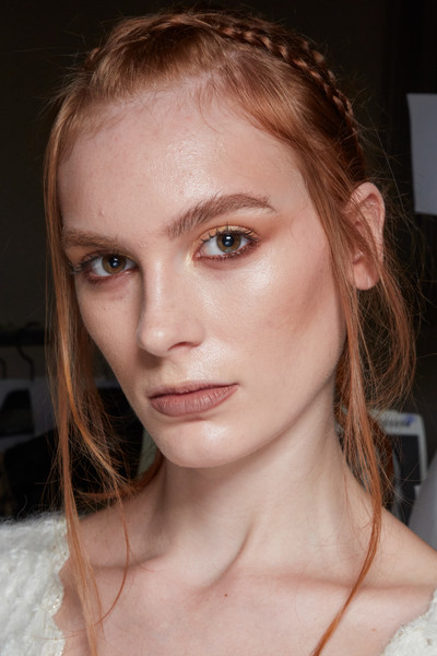Frederick Anderson at New York Spring 2022 (Backstage) [forehead,nose,face,cheek,skin,joint,lip,chin,eyebrow,eyelash,frederick anderson,hair,face,forehead,hair,fashion,hair coloring,skin,joint,new york fashion week,hair coloring,face,layered hair,forehead,hair,long hair,long hair / m,fashion,haute couture,blond]