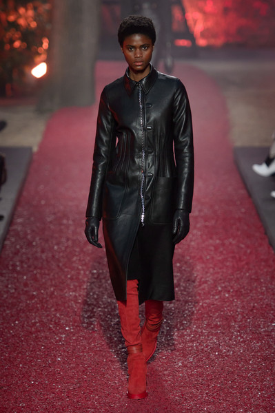 Hermès at Paris Fall 2018 [autumn,fashion,clothing,runway,fashion show,red,fashion model,leather,leather jacket,jacket,outerwear,handbag,fashion,leather,fashion week,red,fashion model,hermes,paris fashion week,fashion show,paris fashion week,herm\u00e8s,ready-to-wear,fashion,handbag,autumn,fashion show,fashion week,leather]