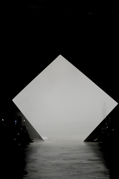 Issey Miyake at Paris Spring 2011 [white,architecture,black-and-white,triangle,sky,reflection,monochrome,monument,monochrome photography,symmetry,triangle,reflection,product design,design,light,meter,angle,daylighting,space,paris fashion week,triangle,product design,angle,daylighting,black white m,reflection,light,space,meter,design]