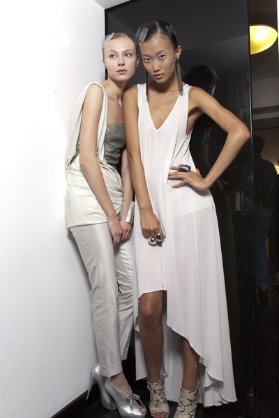 Krizia at Milan Spring 2011 (Backstage)