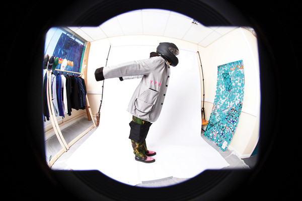 L.Y.P.H. at London Fall 2021 [flash photography,eye,flash photography,sleeve,automotive design,space,recreation,circle,art,personal protective equipment,sports equipment,fisheye lens,product design,design,product,science,physics,sleeve,lyph,london fashion week,fisheye lens,product design,design,lens,product,camera lens]