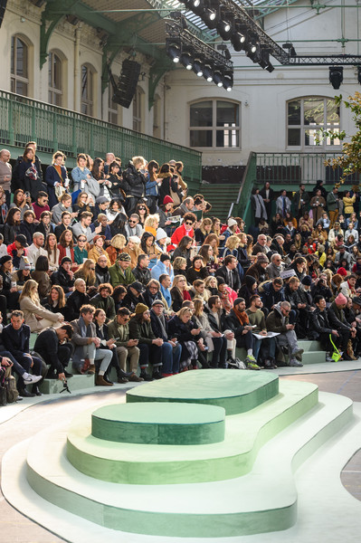 Lacoste at Paris Fall 2018 [crowd,people,audience,event,city,crowd,audience,people,city,lacoste,paris fashion week,event,city,crowd,event]
