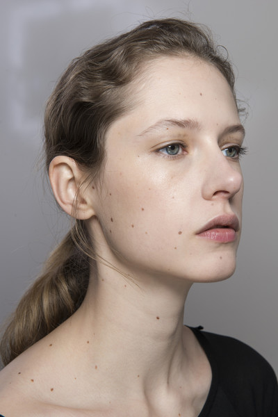 Lanvin at Paris Fall 2018 (Backstage) [portrait,face,hair,chin,forehead,neck,cheek,eyebrow,hairstyle,skin,lip,hair,face,hairstyle,eyebrow,beauty.m,skin,lanvin,paris fashion week,close-up,portrait,close-up,beauty.m]