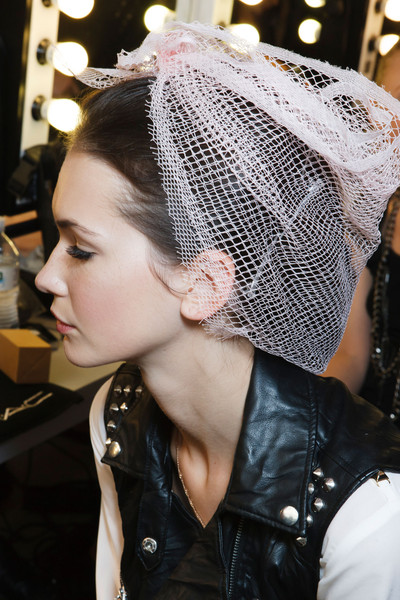 Luisa Beccaria at Milan Spring 2014 (Backstage)