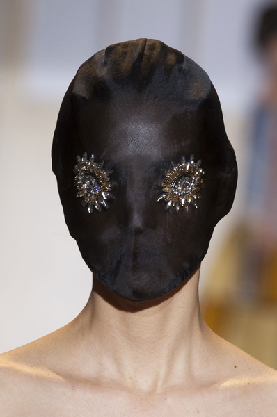 Maison Martin Margiela at Couture Spring 2014 (Details) [couture spring 2014,hair,face,fashion,head,forehead,chin,hairstyle,headpiece,haute couture,neck,headpiece,head,headpiece,maison martin margiela,mask,haute couture,runway,nun mask,fashion show,maison margiela,haute couture,runway,headpiece,fashion show,mask,mask headpiece - wellgift halloween nun mask headpiece women scary full head helmet cosplay costume fancy dress carnival merchandise,seam,crystal masks]