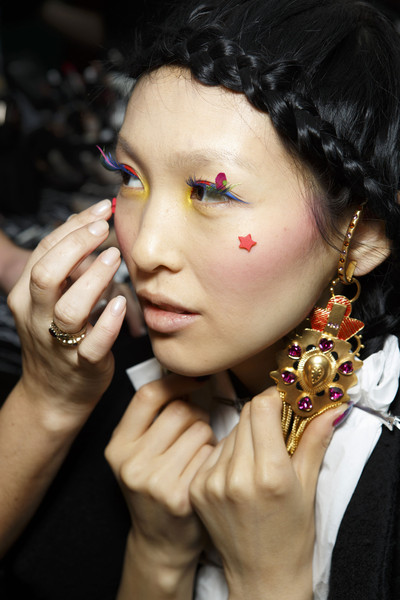 Manish Arora at Paris Fall 2014 (Backstage)