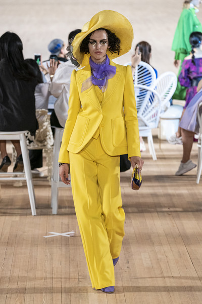 Marc Jacobs at New York Spring 2020 [yellow,fashion,fun,costume,outerwear,suit,street fashion,pantsuit,outerwear,marc jacobs,fashion,fashion week,runway,street fashion,fun,costume,new york fashion week,fashion show,new york fashion week,fashion week,fashion,fashion show,runway,ready-to-wear,spring,model,designer,summer]