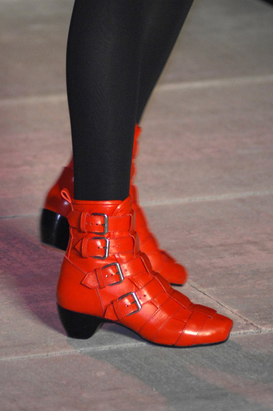 Marc by Marc Jacobs at New York Fall 2008 (Details) [footwear,red,shoe,boot,fashion,joint,ankle,human leg,leg,riding boot,shoe,shoe,footwear,marc by marc jacobs,leg,red,human leg,ankle,riding boot,new york fashion week,shoe,high-heeled shoe,leg]
