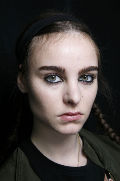 Marc by Marc Jacobs at New York Fall 2014 (Backstage) [portrait,face,hair,eyebrow,lip,cheek,beauty,nose,hairstyle,chin,head,marc by marc jacobs,fashion,forehead,lips,beauty,lip,nose,new york fashion week,close-up,forehead,portrait,fashion,close-up,lips,beauty.m]