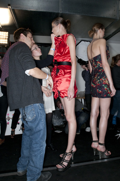 Marios Schwab at London Fall 2009 (Backstage)