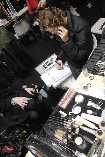 Marithé + François Girbaud at Paris Fall 2008 (Backstage)
