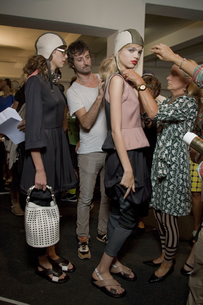 Marni at Milan Spring 2011 (Backstage)