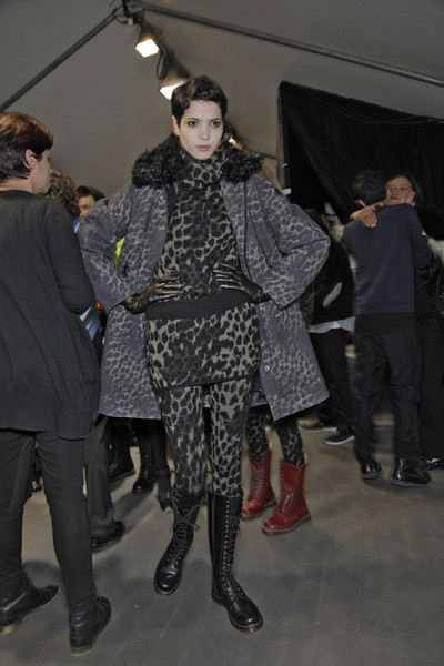 Moncler Gamme Rouge at Paris Fall 2011 (Backstage)