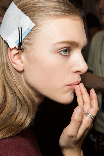 Narciso Rodriguez at New York Fall 2015 (Backstage) [face,hair,eyebrow,nose,lip,skin,cheek,beauty,head,blond,narciso rodriguez,head,fashion,face,hair,eyebrow,beauty,skin,beauty.m,new york fashion week,fashion,beauty.m]