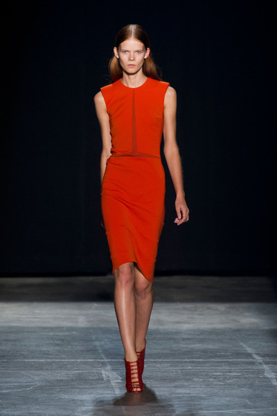 Narciso Rodriguez at New York Spring 2013 [fashion show,fashion model,runway,fashion,clothing,dress,fashion design,shoulder,public event,orange,socialite,narciso rodriguez,fashion,runway,spring,model,popsugar fashion,haute couture,new york fashion week,fashion show,runway,fashion,fashion show,model,popsugar fashion,spring,haute couture,socialite]