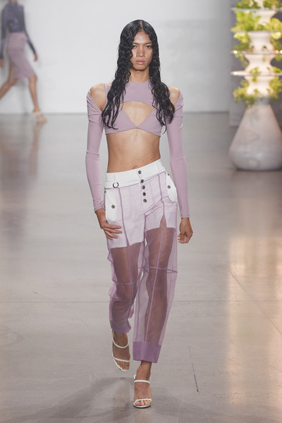 Private Policy at New York Spring 2022 [joint,leg,neck,sleeve,waist,standing,thigh,street fashion,fashion design,belt,shoe,fashion,policy,street fashion,fashion model,haute couture,purple,abdomen,new york fashion week,fashion show,fashion show,haute couture,fashion,shoe,fashion model,purple,abdomen]