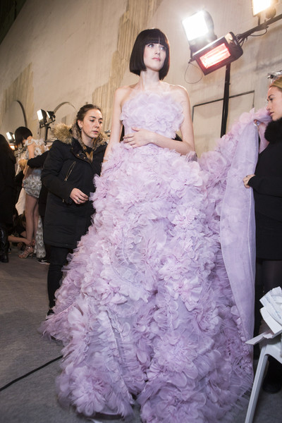 Backstage at Ralph & Russo Couture Spring 2017