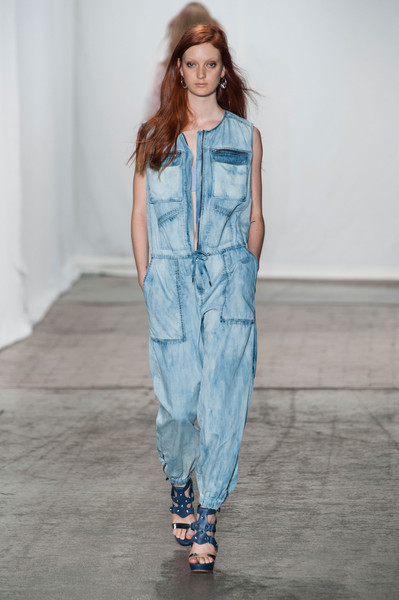 Rebecca Taylor at New York Spring 2013 [fashion model,fashion show,clothing,denim,runway,fashion,overall,blue,one-piece garment,shoulder,jeans,overalls,shorts,denim,fashion,runway,clothing,romper suit,jumpsuit,new york fashion week,denim,fashion,jumpsuit,overalls,clothing,romper suit,boilersuit,runway,jeans,shorts]