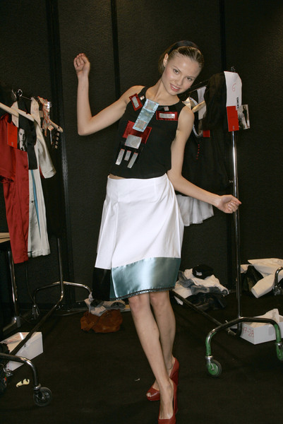 Robert Musso at Milan Spring 2007 (Backstage)