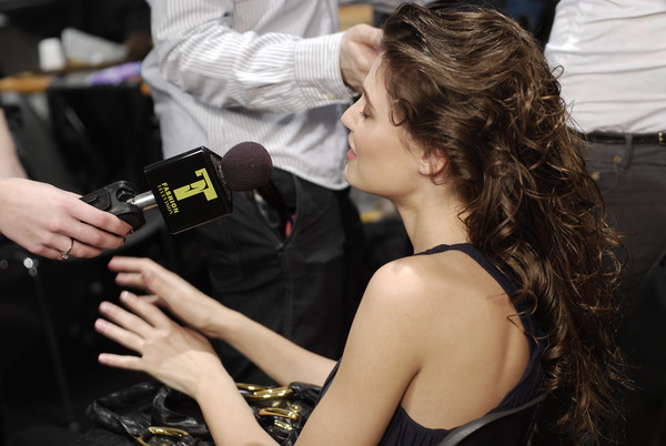 Roberto Cavalli at Milan Fall 2008 (Backstage)