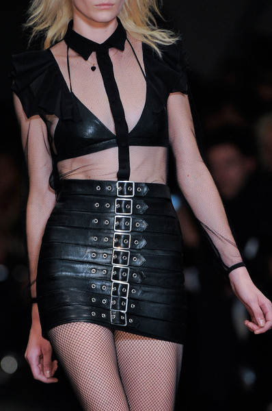Saint Laurent's Buckled Leather Skirt