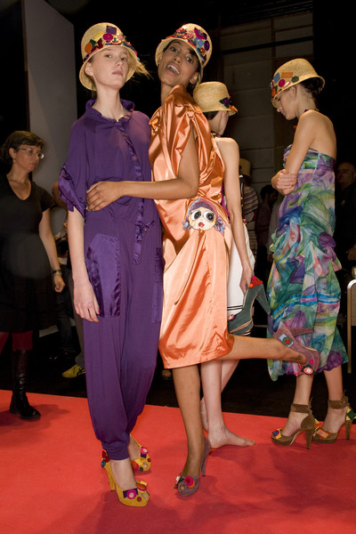 Sonia Fortuna at Milan Spring 2009 (Backstage)