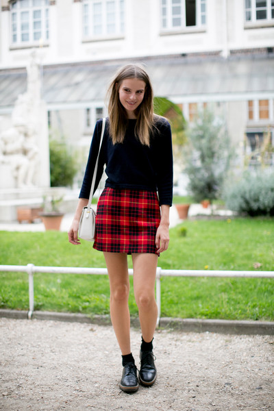 Tartan Mini Skirt Street Style Spotlight On The Grid