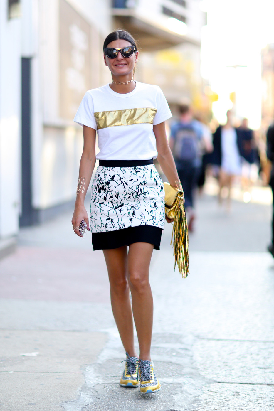 Pure Gold Best Street Style From New York Fashion Week Spring 2015 Livingly