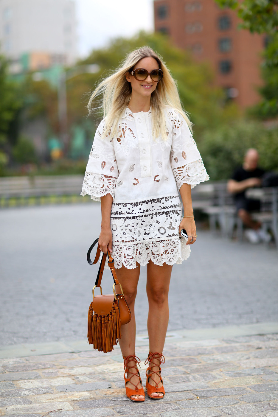 Lace Fringe The Best Street Style At New York Fashion Week Spring 2016 Livingly
