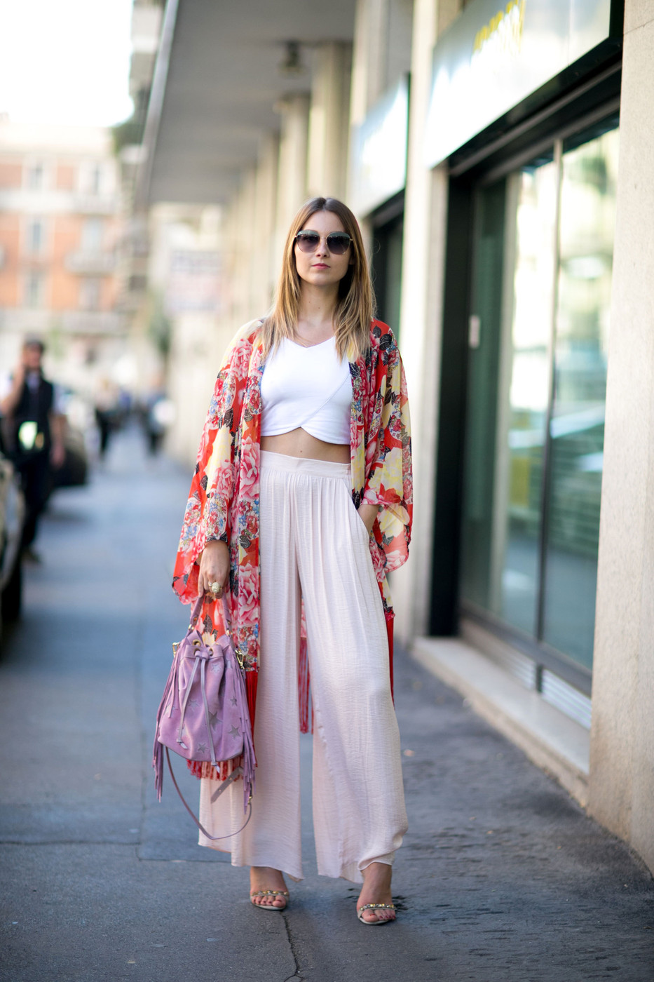 Kimono Cool The Best Street Style At Milan Fashion Week