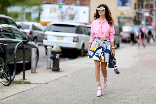 Barbie Pink The Best Street Style At New York Fashion