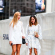 Delicate Whites + Strappy Footwear