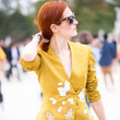 Embroidered Yellow Blazer