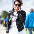 Moto Jacket and Sheer Stripes